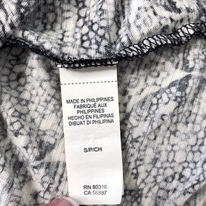 Lucky Brand Tops - LUCKY BRAND Black White 3/4 Sleeve Soft Knit Top S